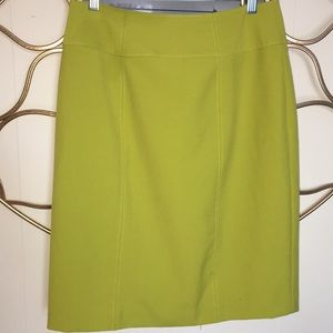 WORTHINGTON lime green career skirt sz 6